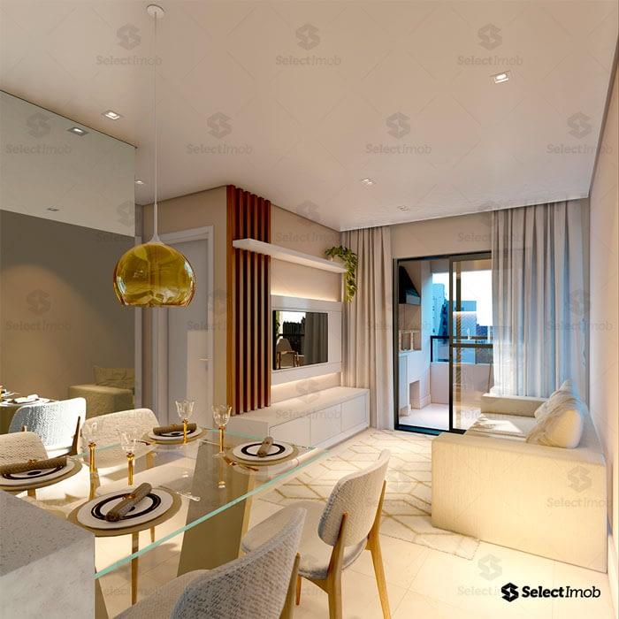 Residencial Royal sala de jantar e sala de estar