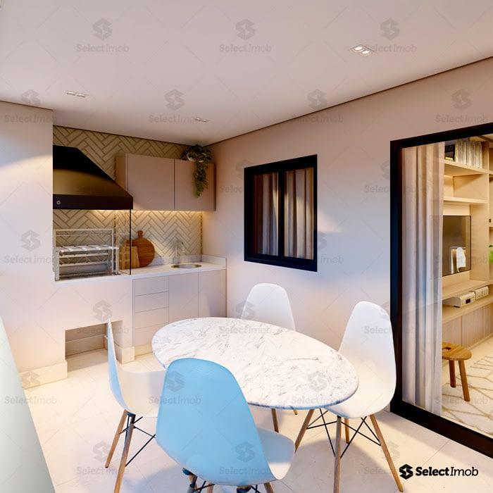 Residencial Royal varanda gourmet com churrasqueira