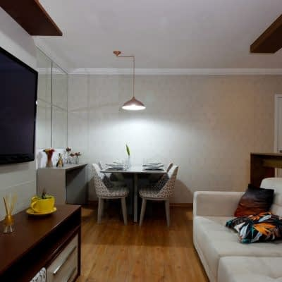condominio das seringueiras sala decorado