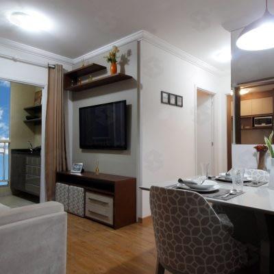 condominio das seringueiras living decorado 2